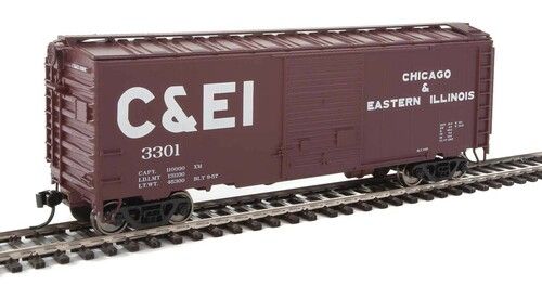 Walthers Mainline HO 910-2251 40' ACF Welded Box Car with 8' Door, Chicago and Eastern Illinois #3301