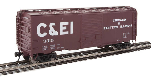 Walthers Mainline HO 910-2252 40' ACF Welded Box Car with 8' Door, Chicago and Eastern Illinois #3315