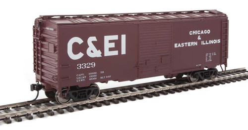 Walthers Mainline HO 910-2253 40' ACF Welded Box Car with 8' Door, Chicago and Eastern Illinois #3329