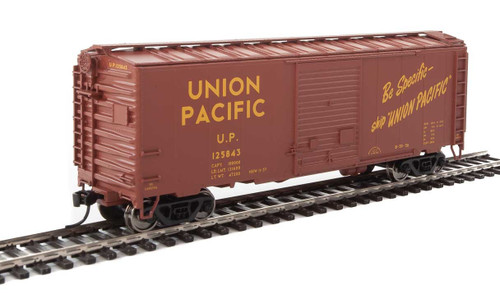 Walthers Mainline HO 910-2264 40' ACF Welded Box Car with 8' Door, Union Pacific #125842
