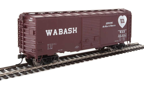 Walthers Mainline HO 910-2266 40' ACF Welded Box Car with 8' Door, Wabash #90207