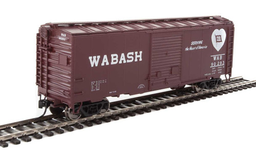 Walthers Mainline HO 910-2267 40' ACF Welded Box Car with 8' Door, Wabash #90293