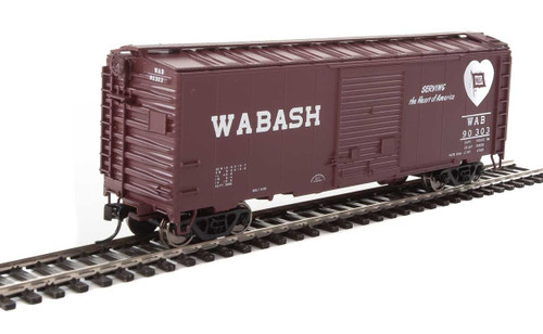 Walthers Mainline HO 910-2268 40' ACF Welded Box Car with 8' Door, Wabash #90303