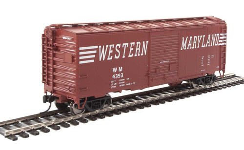 Walthers Mainline HO 910-2270 40' ACF Welded Box Car with 8' Door, Western Maryland #4393