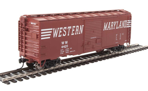 Walthers Mainline HO 910-2271 40' ACF Welded Box Car with 8' Door, Western Maryland #4420