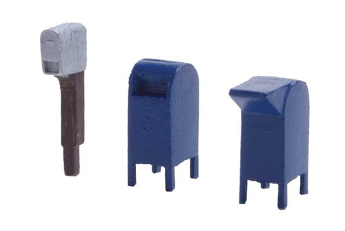 Walthers SceneMaster HO 949-4184 Modern Roadside and City Mailboxes Kit