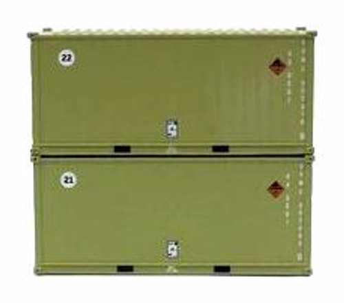 Jacksonville Terminal Company N 205456 20' Standard Height Containers with Magnetic System, USMC (2)