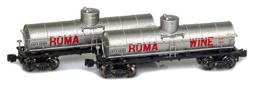 American Z Line Z 915030-1 8,000 Gallon Tank Cars, Roma Wine (2-Pack)