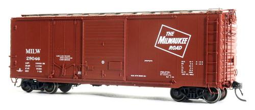 Tangent Scale Models HO 26060-03 40' PS-1 Combination Door Box Car, Milwaukee Road #29057