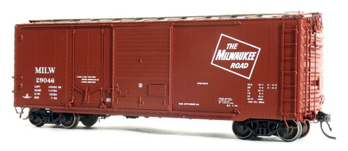 Tangent Scale Models HO 26060-04 40' PS-1 Combination Door Box Car, Milwaukee Road #29129