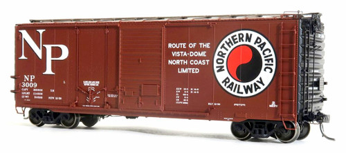 Tangent Scale Models HO 26061-01 40' PS-1 Combination Door Box Car, Northern Pacific #3009