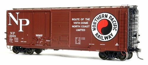 Tangent Scale Models HO 26061-10 40' PS-1 Combination Door Box Car, Northern Pacific #3241