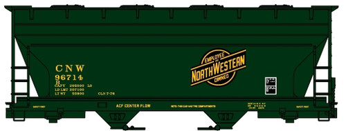 Accurail HO 81321 ACF 2-Bay Covered Hopper Kit, Chicago and North Western