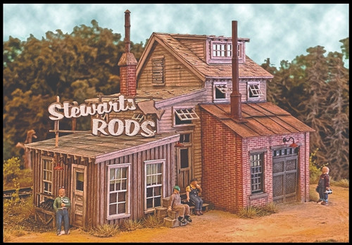 Bar Mills Scale Model Works HO 0192 Stewart's Rod's Building Kit