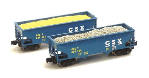 Full Throttle Z FT3044-1 Open 33' Offset 2-Bay Hoppers Set #1, CSX Transportation (2-Pack)