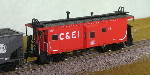 Bluford Shops N 42020 2-Bay Window Caboose, Chicago and Eastern Illinois #38