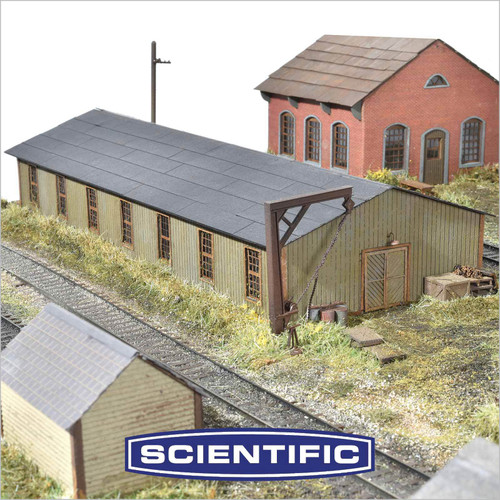 Micro-Mark HO 89091 PRR Trackside Frame Shop Kit by Scientific