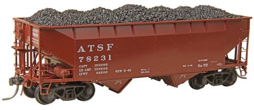 Kadee HO 7524 50-Ton AAR Standard 2-Bay Open Hopper Car, Atchison Topeka and Santa Fe #78231