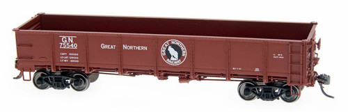 Intermountain HO 35010-40 Drop Bottom Gondola with Steel Sides, Great Northern #75743