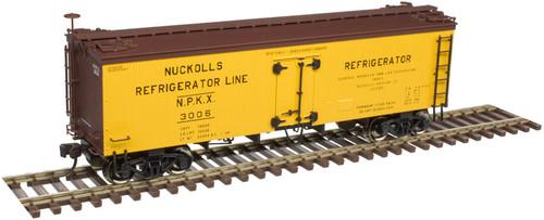 Atlas Master Line HO 20005807 36' Wood Reefer, Nuckoll's Refrigerator Line #3006