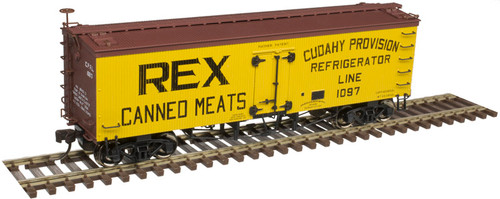 Atlas Master Line HO 20005813 36' Wood Reefer, Rex Canned Meats (Cudahy) #1097