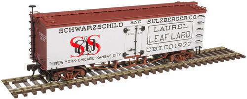 Atlas Master Line HO 20005815 36' Wood Reefer, Schwarzschild and Sulzberger Lard #1937