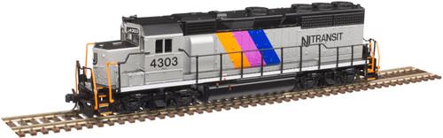 Atlas N 40004178 Gold Series EMD GP40 with Low Nose and Dynamic Brakes, NJ Transit #4301