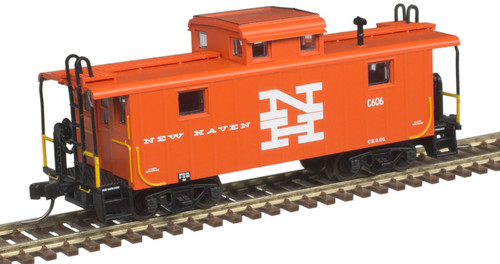 Atlas N 50005345 NE-5 Steel Cupola Caboose, New Haven #606