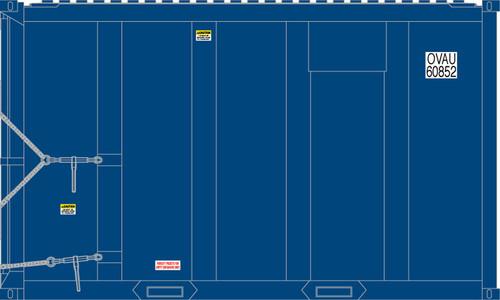 Atlas Trainman N 50005438 20' High Cube MSW Trash Containers, OVAU #2 (4)