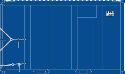 Atlas Trainman N 50005440 20' High Cube MSW Trash Containers, RSGU #2 (4)