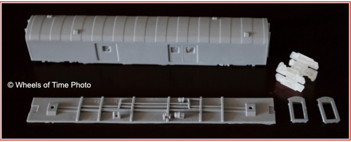 Wheels of Time N 19102 SP Class 66-B-1 Economy Baggage Car Kits, Undecorated (2-Pack)