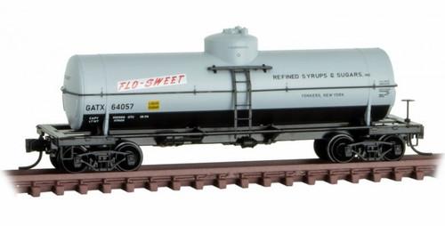 Micro-Trains N 06500156 39' Single Dome Tank Car, Flo-Sweet (GATX) #64057