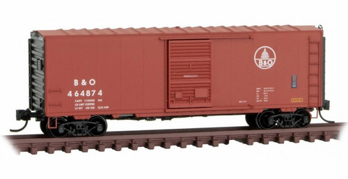 Micro-Trains N 07300290 40' Standard Box Car with Single Door, Full Ladders, and No Roofwalk, Baltimore and Ohio #464874