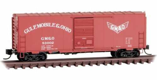 Micro-Trains N 07300540 40' Standard Box Car with Single Door, Full Ladders, and No Roofwalk, Gulf Mobile and Ohio #53002