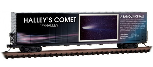 Micro-Trains N 10202842 60' Box Car with Excess Height and Modified Sides, Halley's Comet (No Restock Expected)