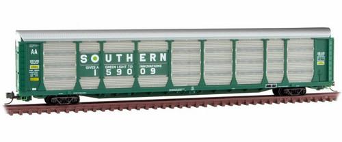 Micro-Trains N 11100091 89' Tri-Level Closed Autorack, Southern #159009