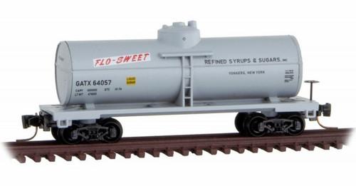 Micro-Trains Z 53000510 39' Single Dome Tank Car, Flo-Sweet (GATX) #64057