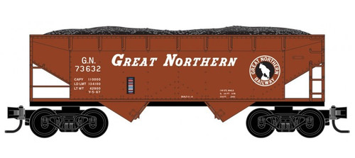 Micro-Trains Z 53300161 33' Twin Bay Hopper with Offset Sides, Great Northern #73632