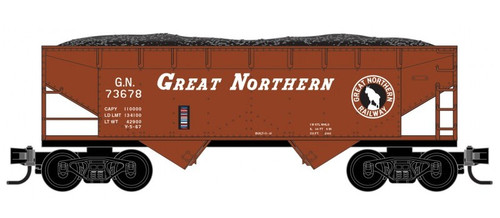 Micro-Trains Z 53300162 33' Twin Bay Hopper with Offset Sides, Great Northern #73678
