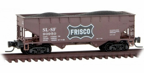 Micro-Trains Z 53300172 33' Twin Bay Hopper with Offset Sides, Frisco #90950