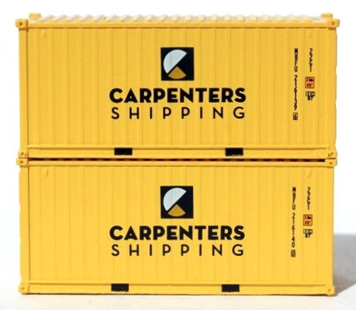 Jacksonville Terminal Company N 205429 20' Standard Height Containers with Magnetic System, Carpenters Shipping (2)
