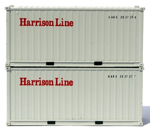 Jacksonville Terminal Company N 205434 20' Standard Height Containers with Magnetic System, Harrison Line (2)