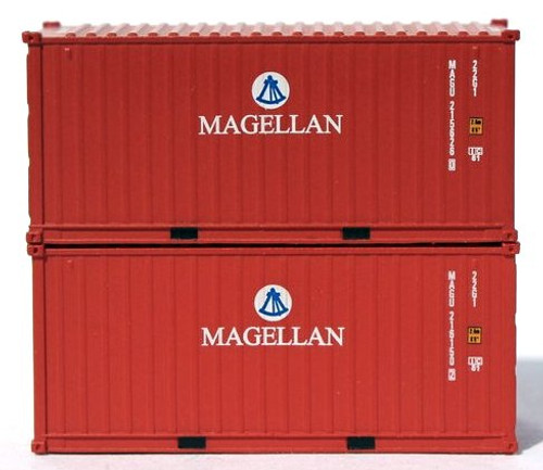 Jacksonville Terminal Company N 205383 20' Standard Height Containers with Magnetic System, Magellan (2)