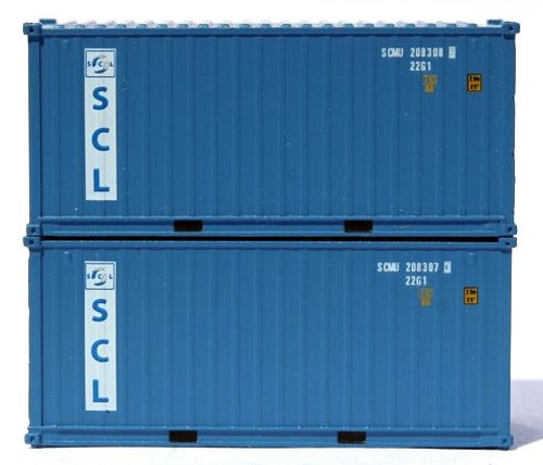 Jacksonville Terminal Company N 205326 20' Standard Height Containers with Magnetic System, Safmarine (2)