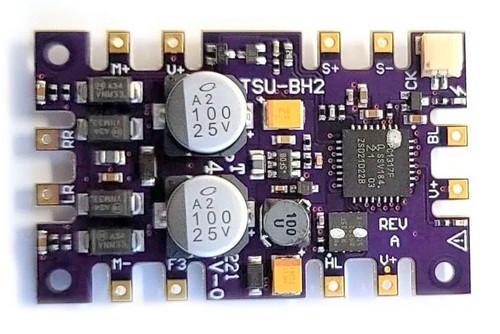 Soundtraxx HO 884814 TSU-BH2 Tsunami 2 Bachmann Upgrade DCC Sound Decoder, Steam-2