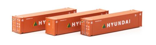 Athearn N 17668 45' Containers, Hyundai (3)