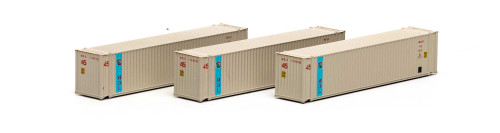Athearn N 17670 45' Containers, MOL (3)