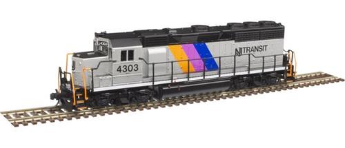 Atlas N 40004179 Gold Series EMD GP40 with Low Nose and Dynamic Brakes, NJ Transit #4303