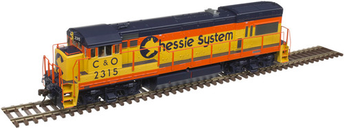 Atlas Master Line HO 10003420 Silver Series GE U23B with Low Nose, Chessie System (C&O) #2313
