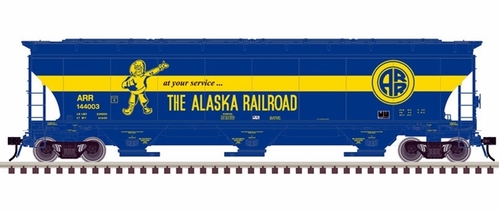 Atlas Master Line O 3001134 Trinity 5161 Cubic Foot Covered Hopper, Alaska Railroad